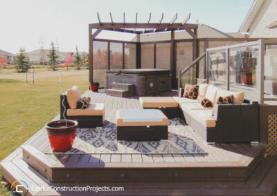 Deck Living Area & Outdoor Kitchen