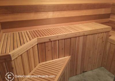 Clarke Construction Projects built this sauna