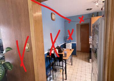 Kitchen renovation for open floor plan