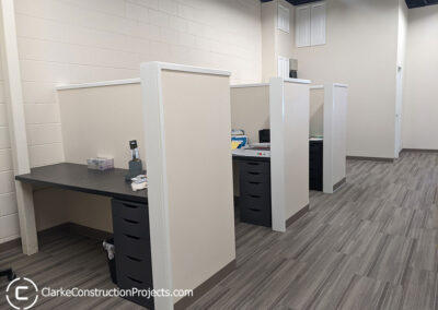 Office cubicle construction by clarke construction projects