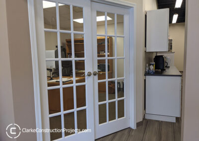 Office remodel by clarke construction projects
