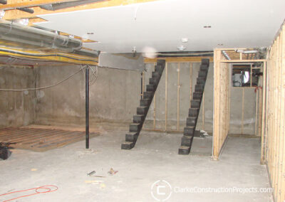 Relocate basement stairs