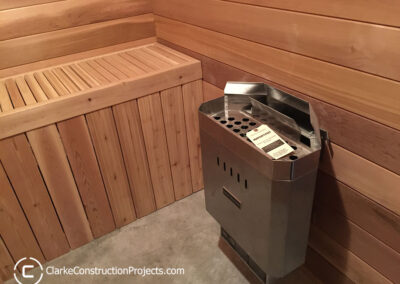 residential saunas built by clarke construction projects