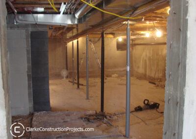 basement construction - vent