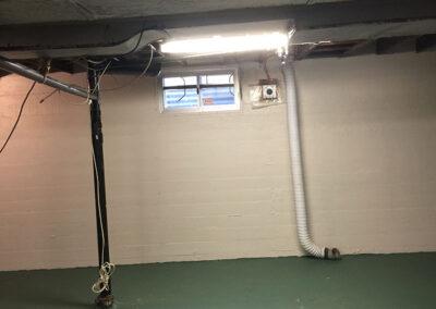 basement rec room build
