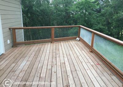 deck railings - clear