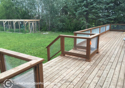 extra large deck built by clarke construction projects