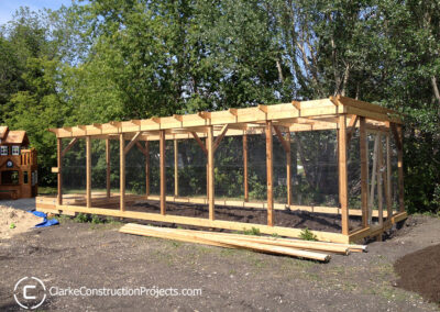 garden trellis build by clarke construction projects