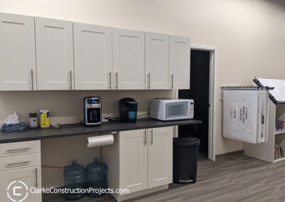 Office kitchen build by clarke construction projects