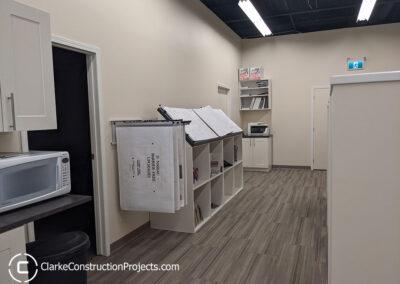 Office remodeling by clarke construction projects winnipeg