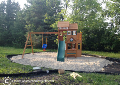 play structure built by clarke construction projects