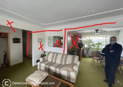 remove interior walls to create an open concept
