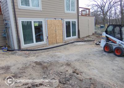 walk out basement construction