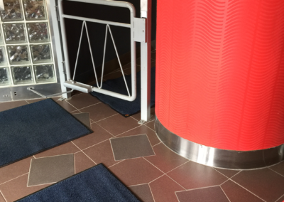 Commercial flooring and security entrance