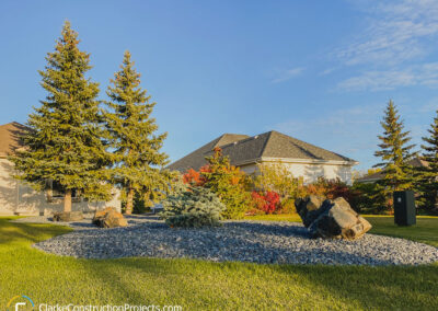 Front yeard landscaping by clarke construction projects