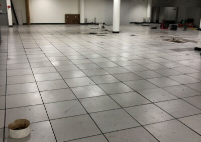 Before photo of commercial flooring renovation