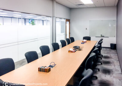 commercial boardroom build by clarke construction projects
