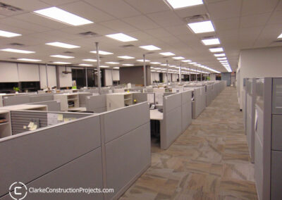 Office renovations by clarke construction projects