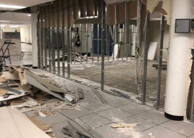 Progress - demolition of raised access flooring