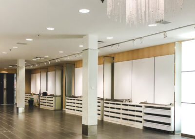 retail store space renovated by clarke construction services
