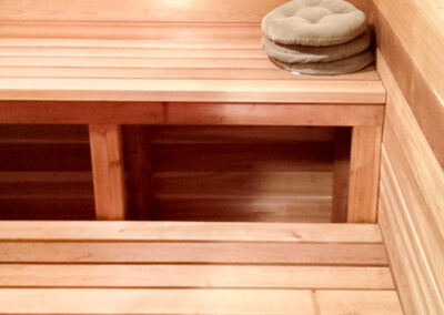 Sauna seats built by clarke construction projects