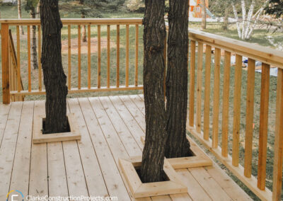Treehouse deck built by clarke construction projects