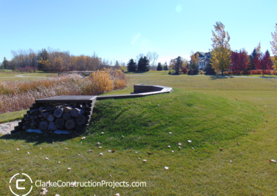 in-ground fire pit buiilt by clarke construction projects