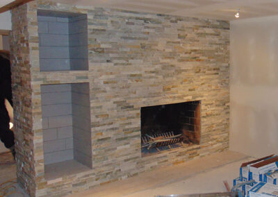 new fireplace built by clarke construction projects