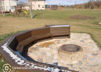 outdoor seating area built by clarke construction projects