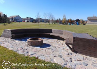 contractors who build residential fire pit areas