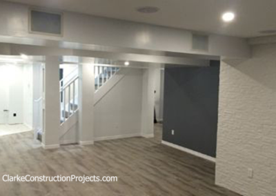 basement finishing by clarke construction projects
