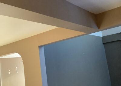 beam installation for open concept floor plan
