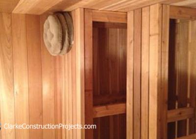 cedar sauna construction
