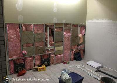 demolition of old washroom