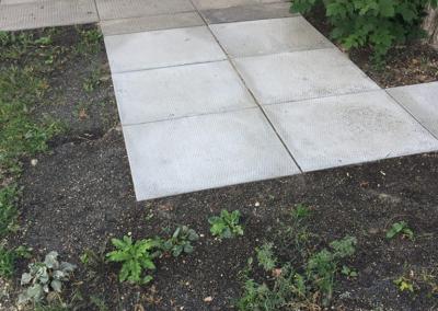 outdoor sidewalk installation