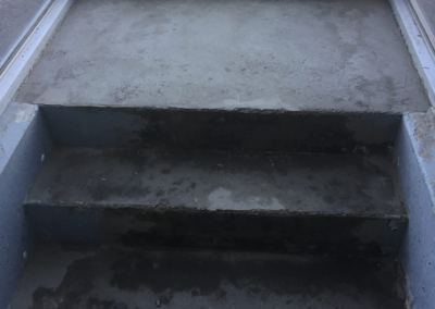 prepping stairway for renovation